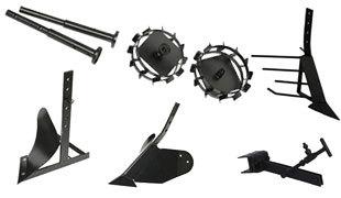 Комплект насадок для FJ500 (грунтозацепы, удлинитель, плуг, картофелевыкапыватель, окучник, сцепка) в Кстовое